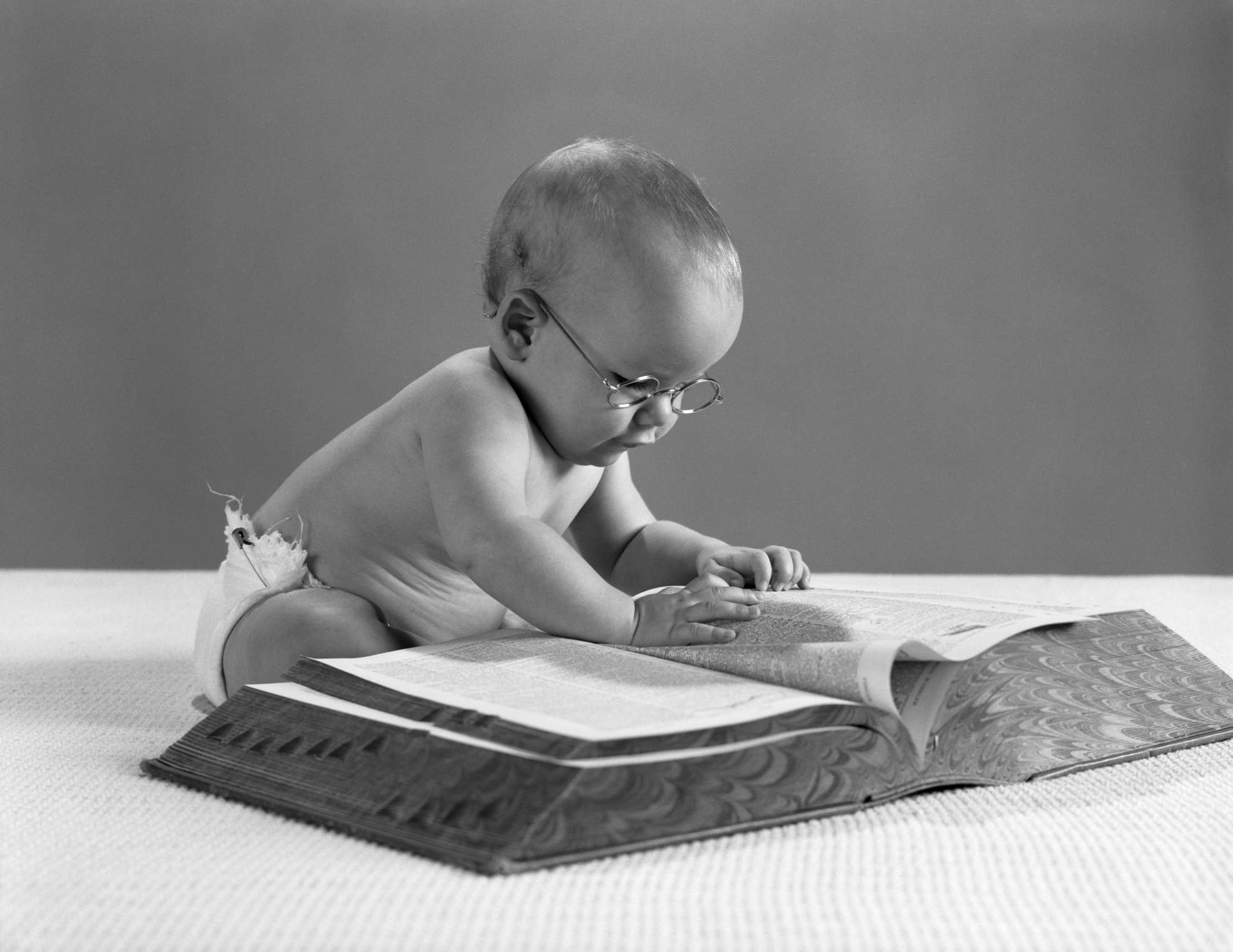 1960s BABY WEARING GLASSES...