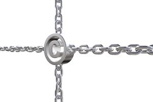 copyright symbol in chains