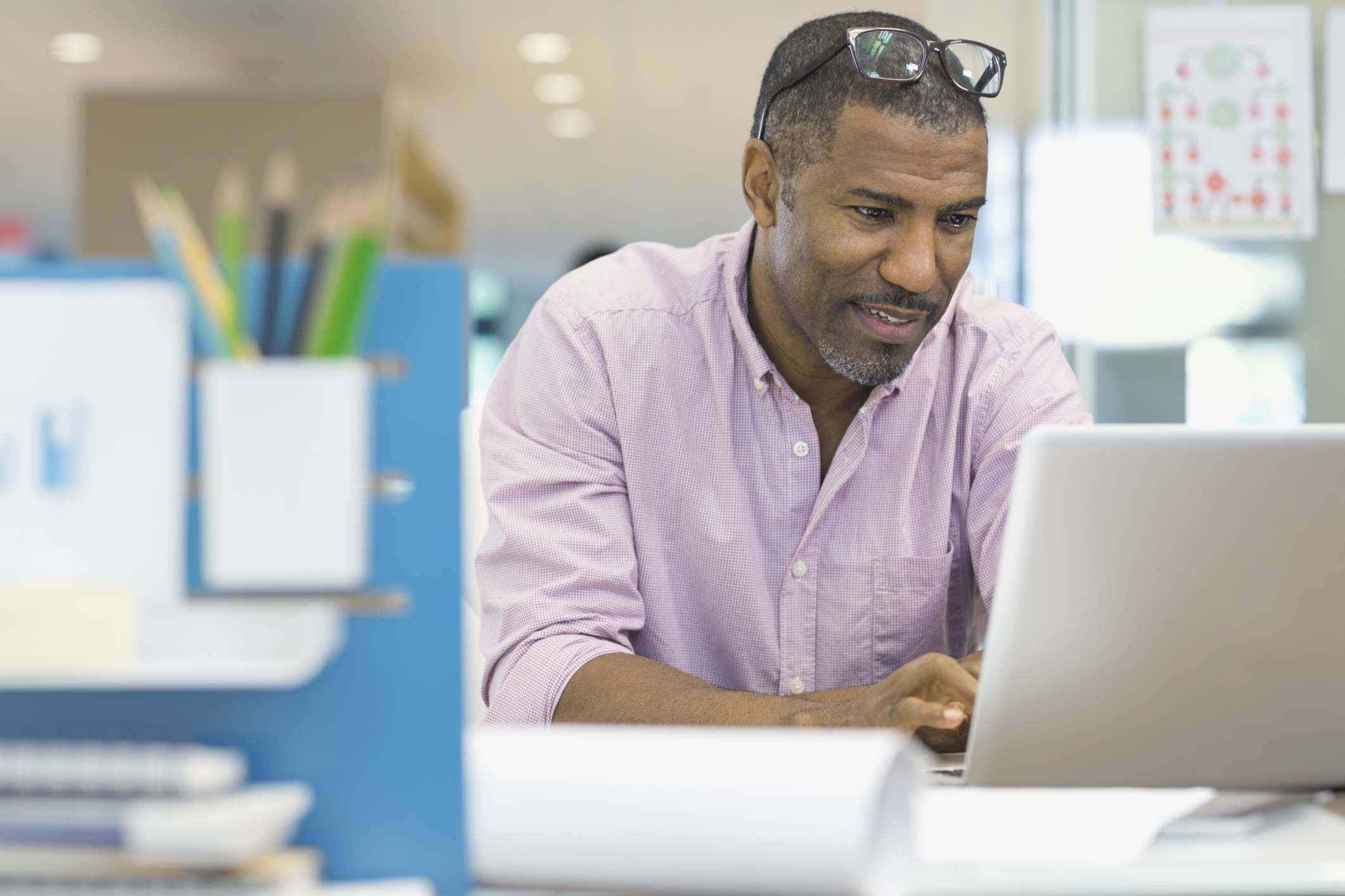 Man using computer in office