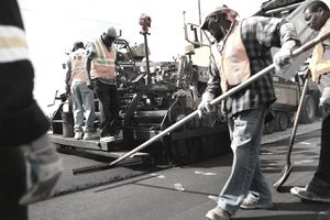 Construction Crews Working on a Time and Material Contract
