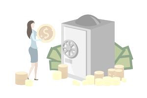 Illustration of making deposit