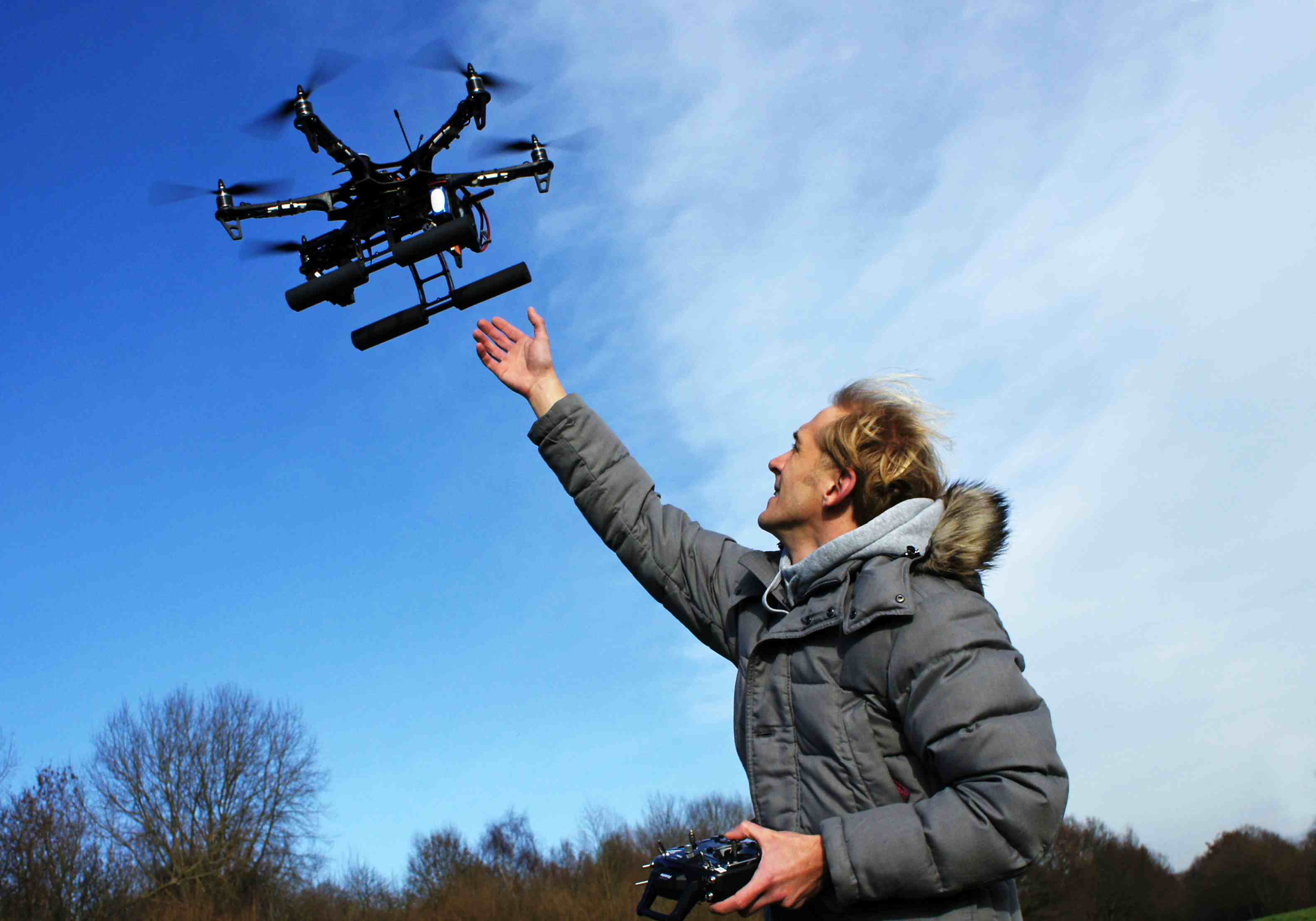 Man with a drone