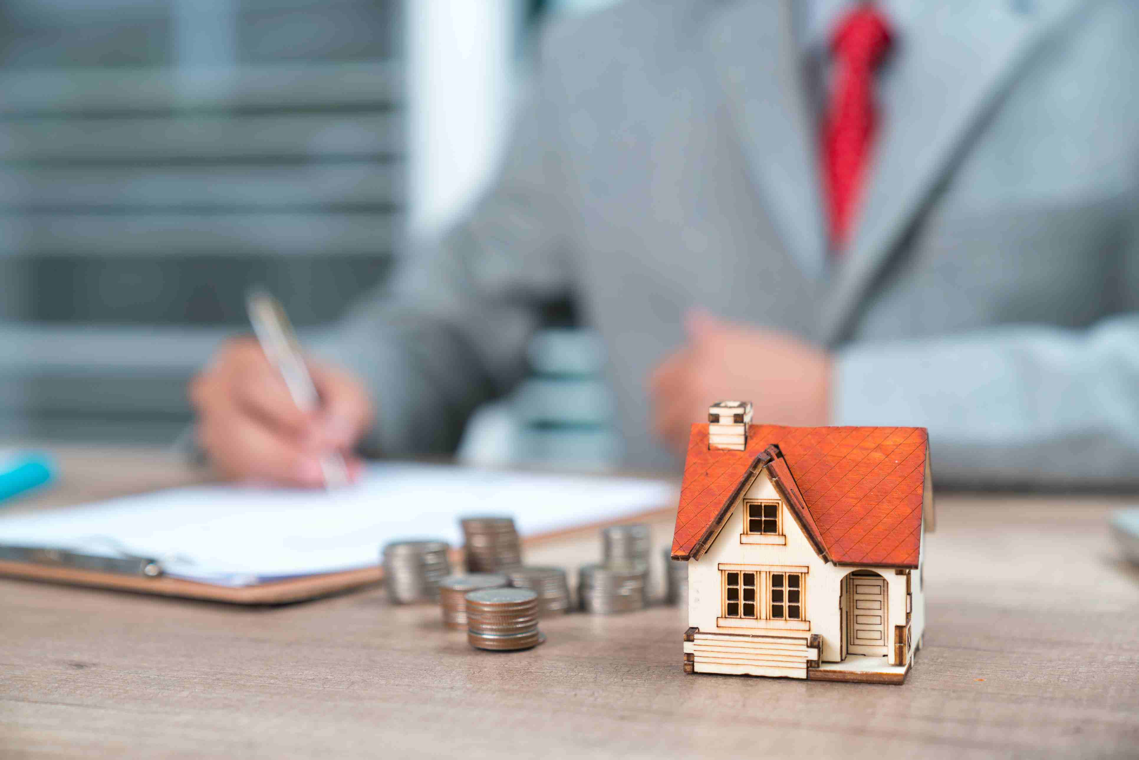 Man making a real estate investment