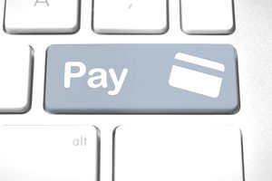 Pay symbol on a keyboard