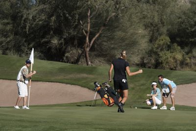 Group of people on golf course