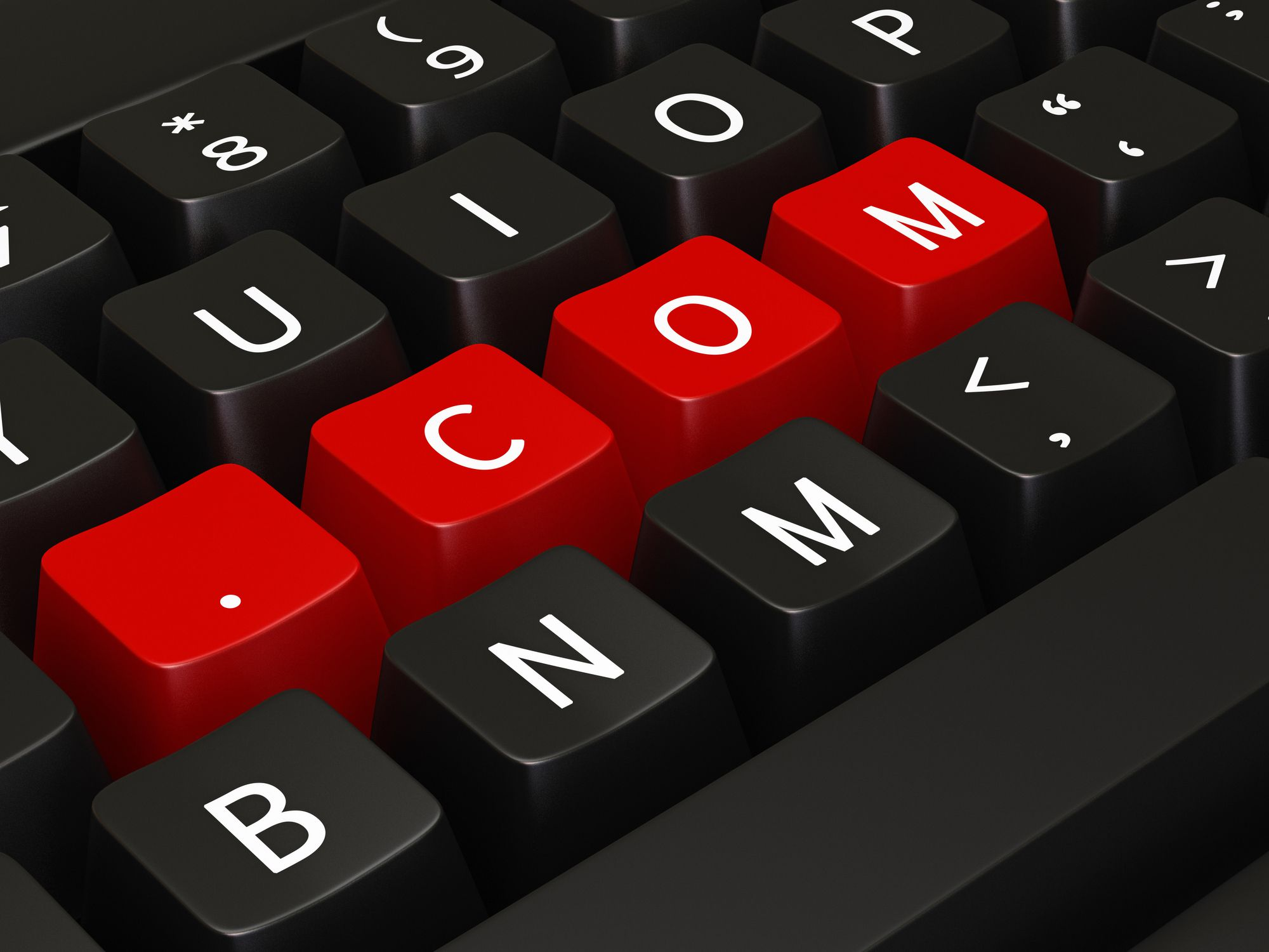 Dot-com is a common domain name extension