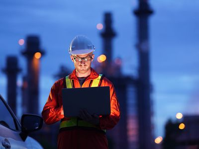 Engineer working at construction power Plant