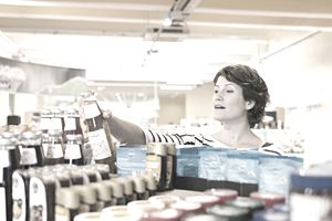 woman in grocery store