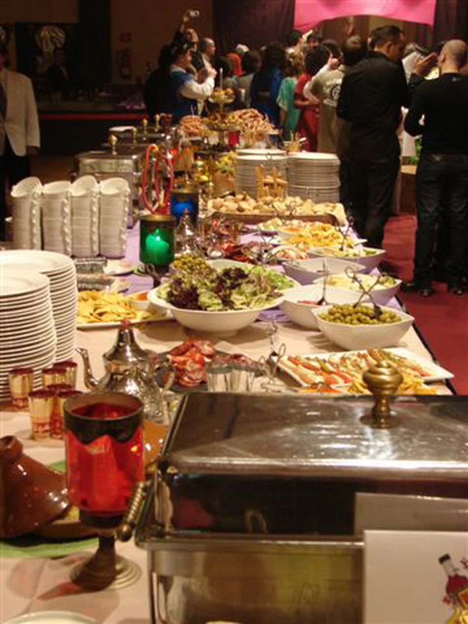 Buffet Setup for the Employee Christmas Party, Majestic Hotel, Barcelona, Spain