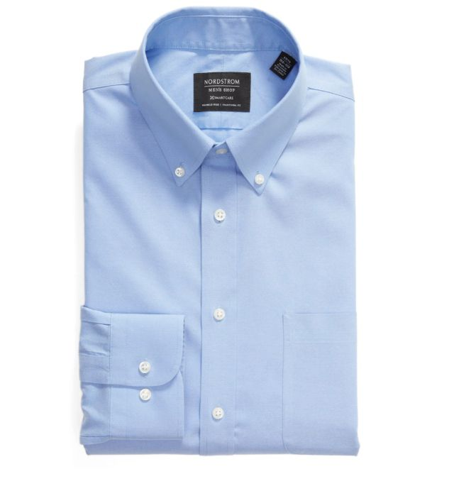 Nordstrom Smartcare Traditional Fit Pinpoint Dress Shirt
