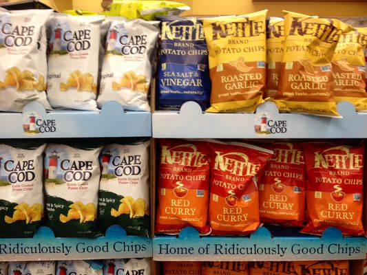 Cape Cod potato chips and Kettle chips
