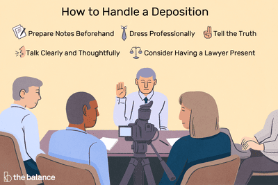 Tips for Giving a Deposition