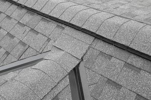 An asphalt shingled roof