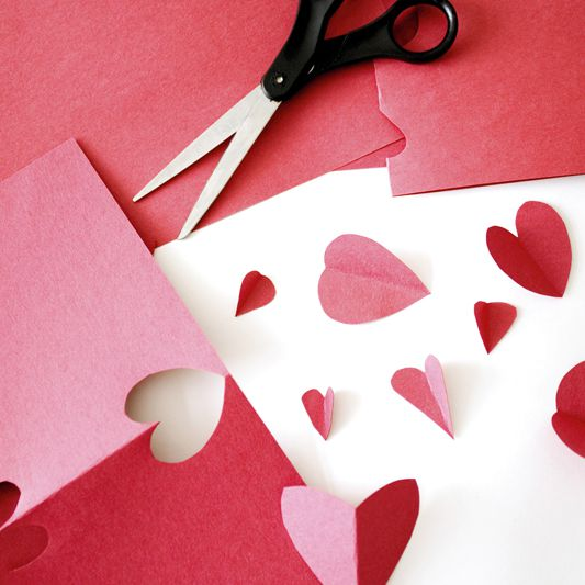 scissors, paper, and hearts