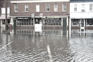 Hurricane Sandy Flood Closes Businesses at Annapolis Harbor