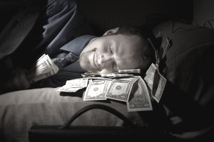 Man making passive income while asleep