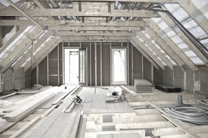 Interior of building under construction