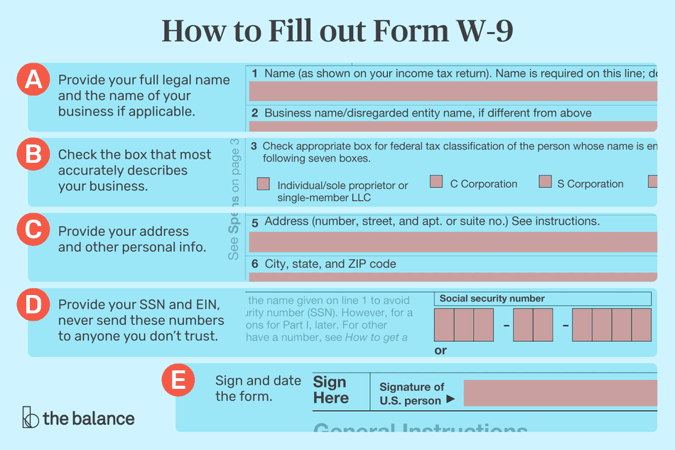 how to fill out form w-9