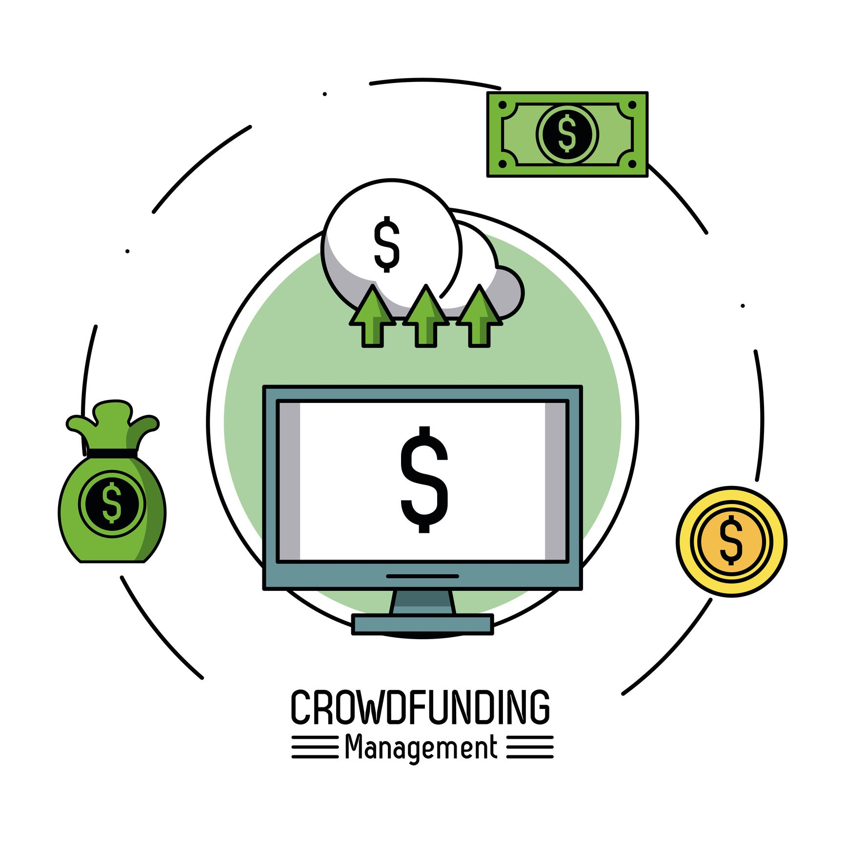Crowfunding management infographic