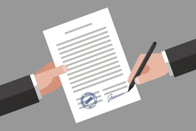 Signing of business document