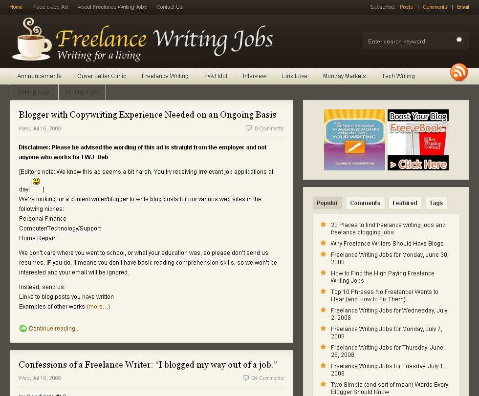 Top 9 Places to Find Paid Blogging Jobs