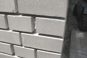 a closeup of masonry work