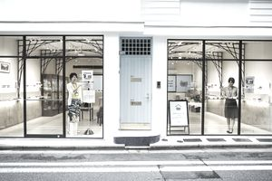 Shop selling Edo Kiriko cut glass in Tokyo, Japan.