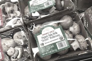 Mushrooms with USDA Agricultural Product Seal
