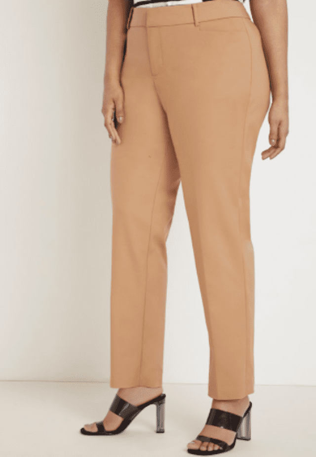 Eloquii Kady Fit Double-Weave Pant