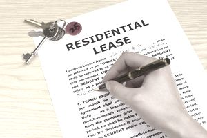 Signing a residential lease