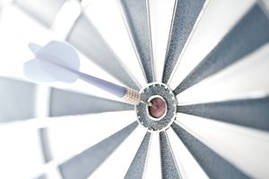 Just like a dartboard bulls-eye, in sales, businesses will use target marketing to reach their customers.