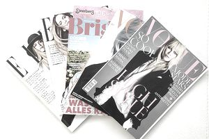 various magazines fanned out
