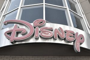 Disney Store sign on the outside of a store