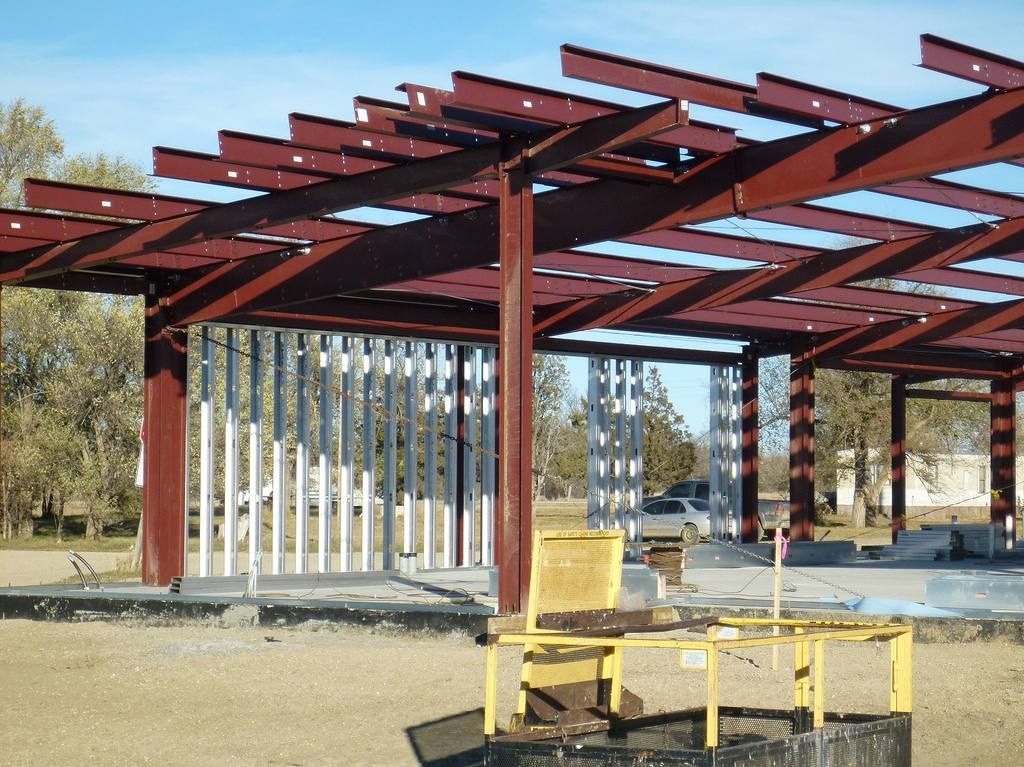 an example of steel framing