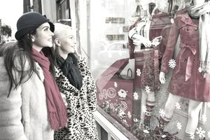 Christmas window displays can bring in customers