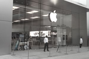 Apple store in Lincoln Park (Chicago), Illinois, United States