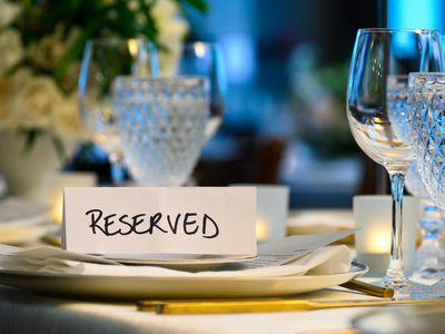 Place setting at a reception