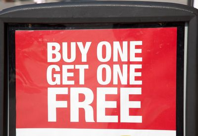 buy one get one free advertisement