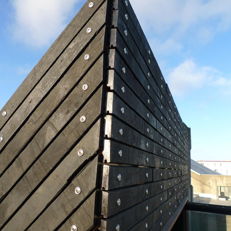 an example of a common wood cladding