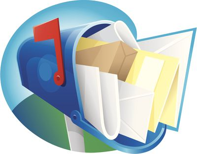 An illustration of an overflowing mailbox.