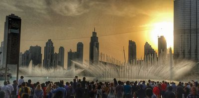 Dubai's dancing fountains are a major free attraction.