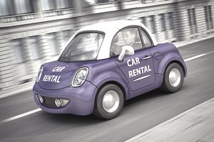 digitally rendered car rental image