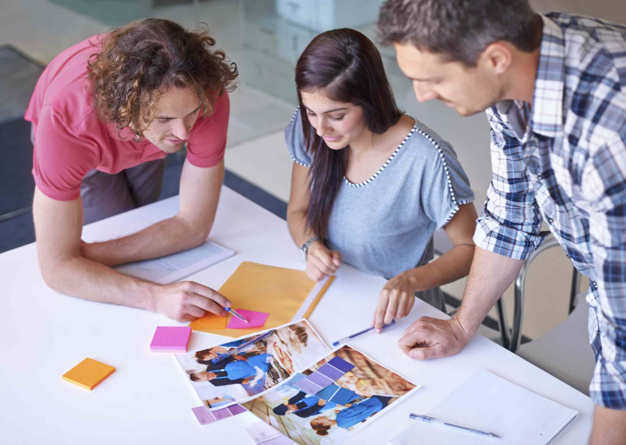 Group of people designing a marketing campaign.