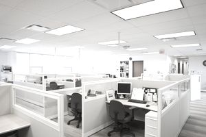 A modern office design paid for with funds pulled from retained earnings.
