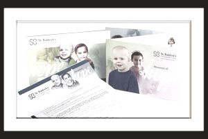 Sample of a direct mail package for fundraising.