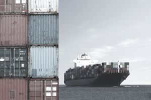 Shipping Containers and Ship