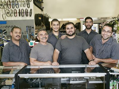 Family working together in family-owned business