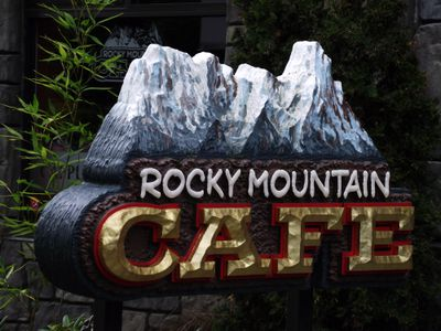 Rocky Mountain Cafe sign.