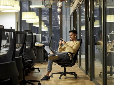 Man on office chair