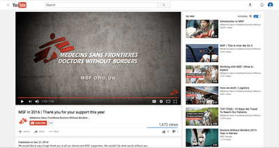 doctors without borders sent this video message for a recurring donation
